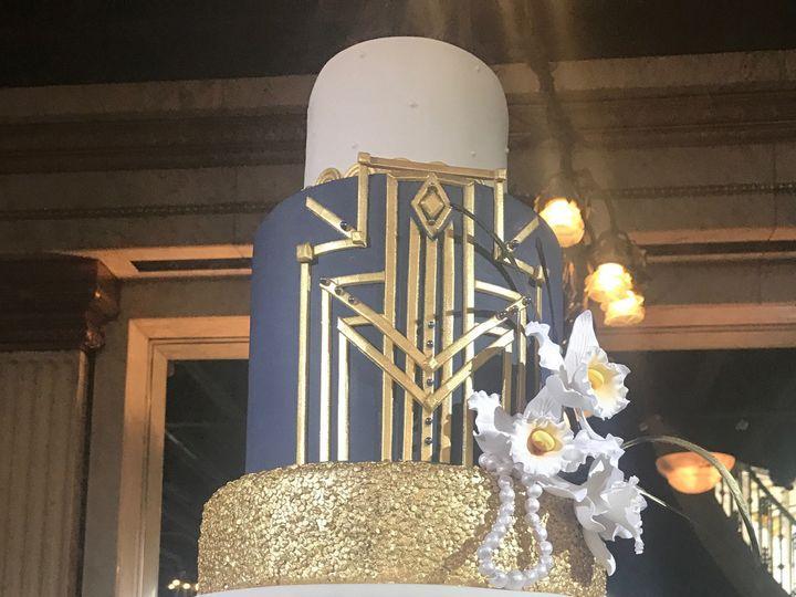 Tmx 1507390440323 Art Deco Glam Cake With Orchidscropped Orlando, FL wedding cake