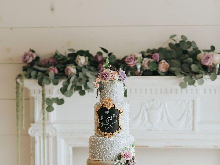 Tmx 1526338051 9a153fed9019fae0 1526338050 35b467979f9c07d7 1526338050258 4 Purple Gray Love C Orlando, FL wedding cake