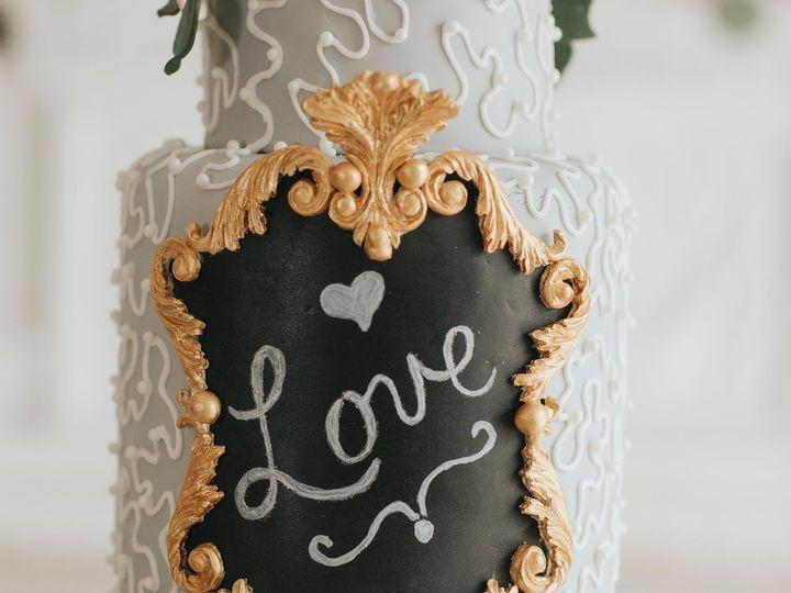Tmx 1534452765 C9b58e1c8a19b22a Love Plaque Closeup Orlando, FL wedding cake