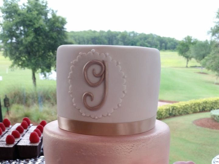 Tmx 1534454166 Ab0df187ab74e9be 1534454163 F919045dc4d53169 1534454163434 9 Pink And Champagne Orlando, FL wedding cake
