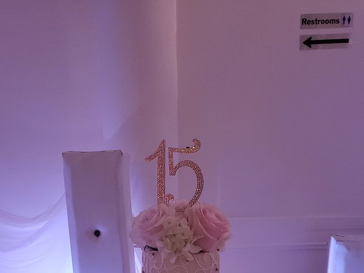 Tmx Melanie Rose Gold 15 Cake 51 155805 Orlando, FL wedding cake