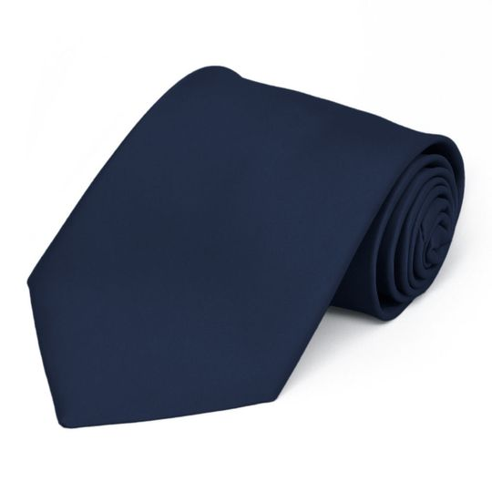 Navy blue colored tie