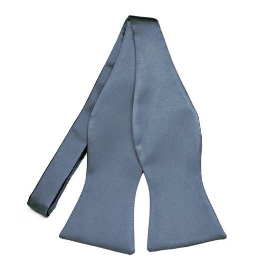 Dusty Blue Self-Tie Bow Tie