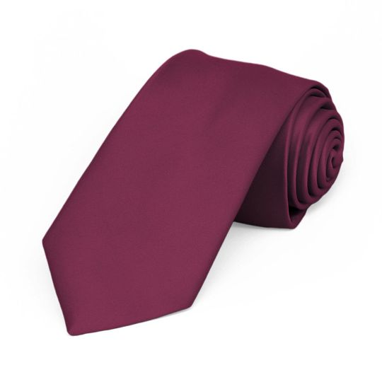 Maroon colored tie