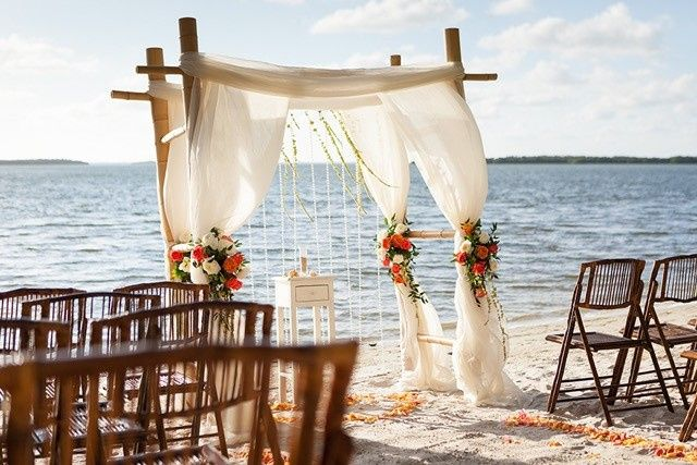 Cove Beach bamboo Arch & floral artistry
