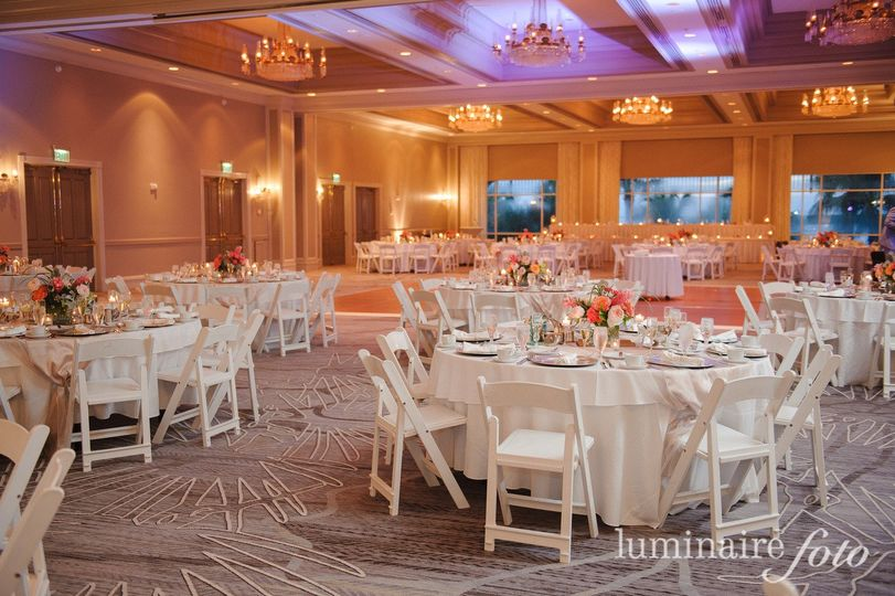 everglades ballroom white chairs