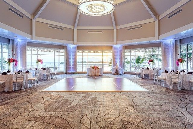 island ballroom sunset