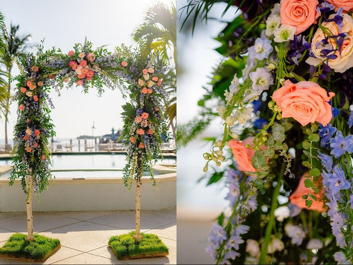 Tmx Palms Pool Deck Floral Display 51 6805 158464510470031 Fort Myers, Florida wedding venue