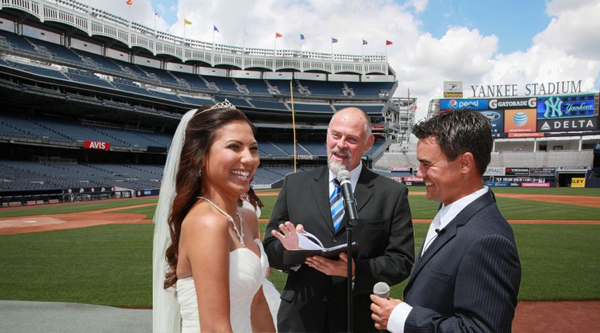 Yankee stadium wedding