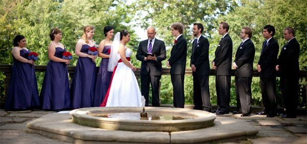 Gorgeous outdoor ceremony