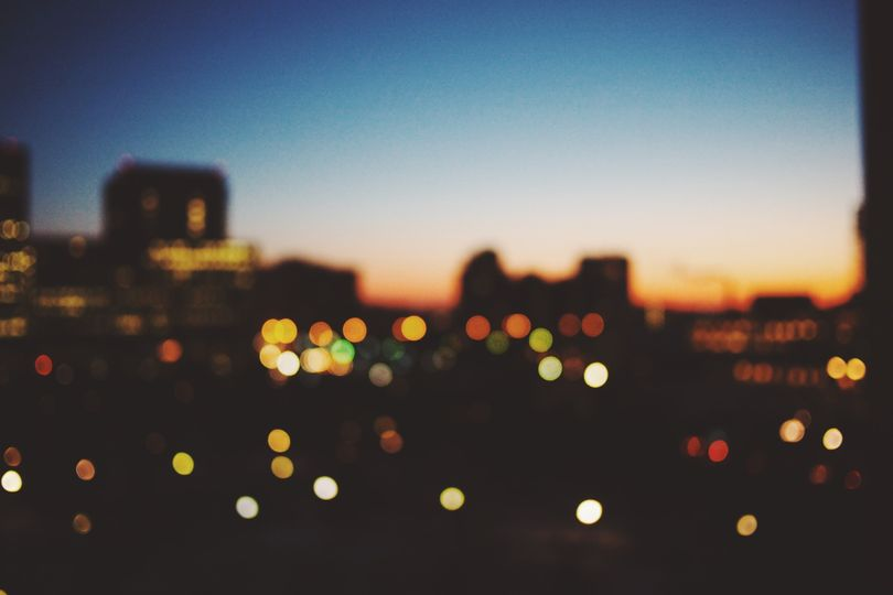 City lights view