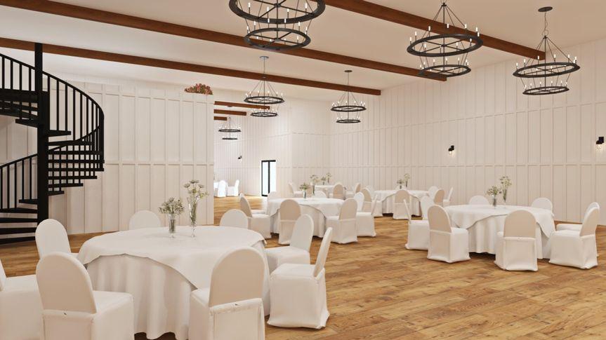Back view of venue interior