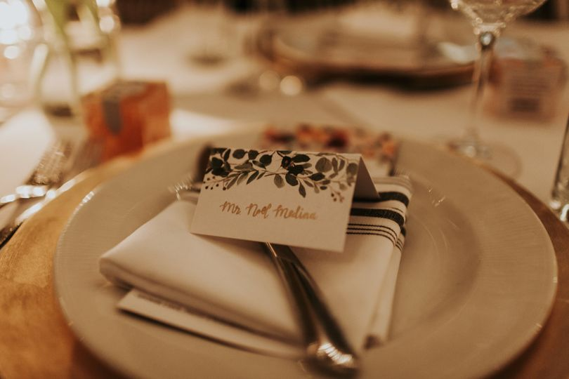 The bride's personal touch