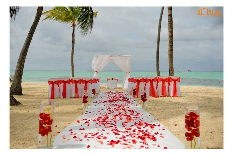 Get married right on the white sand beach