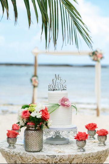 Destination beach wedding, Grand Bahama Island, Bahamas, Starfish Events, Paradise Cove Beach,...