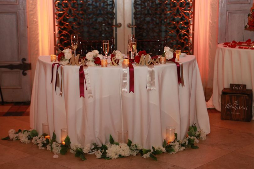 Sweetheart Table Ribbons