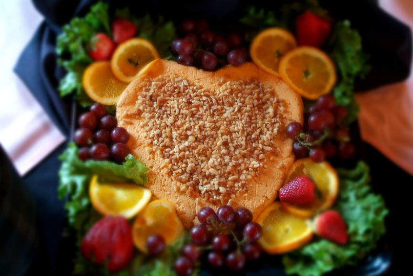 Heart shaped cheese tray