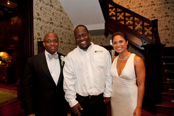Jeff/DEEJAY 007 with a great couple at their wedding reception at a quaint bed and Breakfast in...