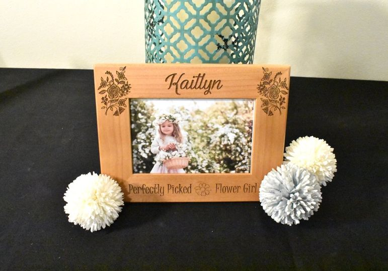 Flower Girl Custom Photo Frame