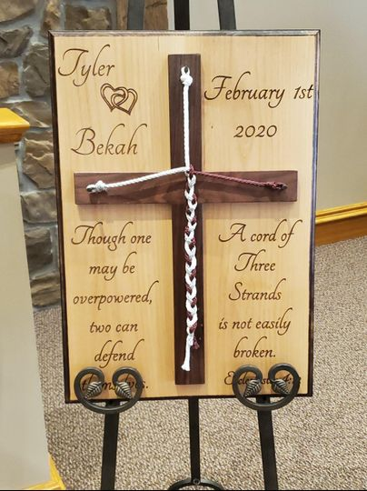 Unity Cross Ceremony Sign
