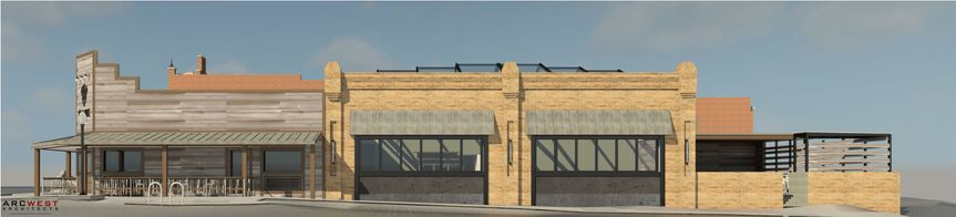 3D rendering of the view from the the South