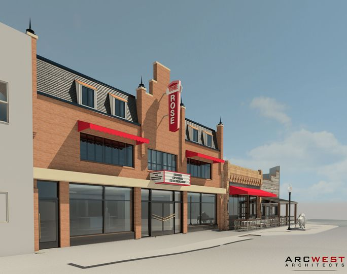 3D rendering of the entrance