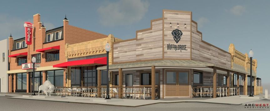 3D rendering of The Buffalo Rose