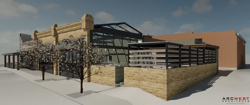 3d rendering of the view of the back deck