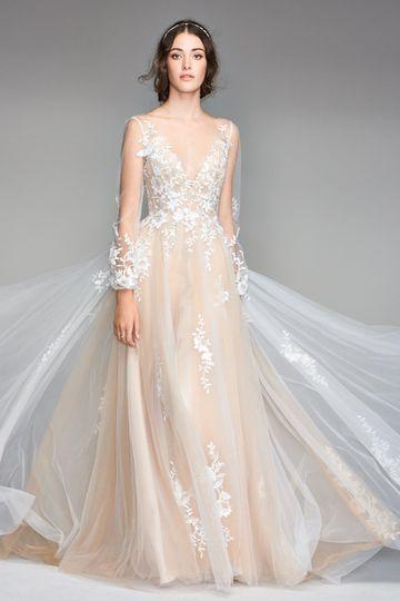 The cream dress