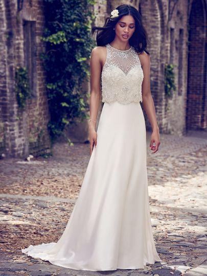 The simple but elegant dress