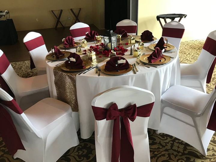 Maroon chair bows