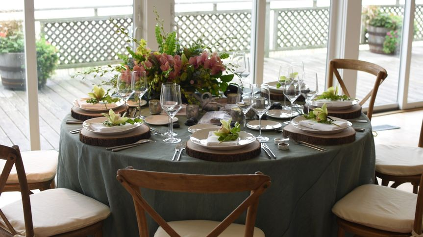 Tablescape in the Hamptons