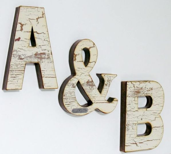wedding letter set ab