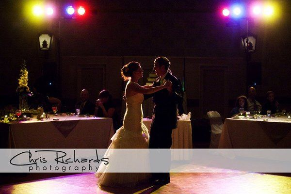 This is what we mean when we say beautiful lighting. First dance in the Kiva Ballroom at Loews...