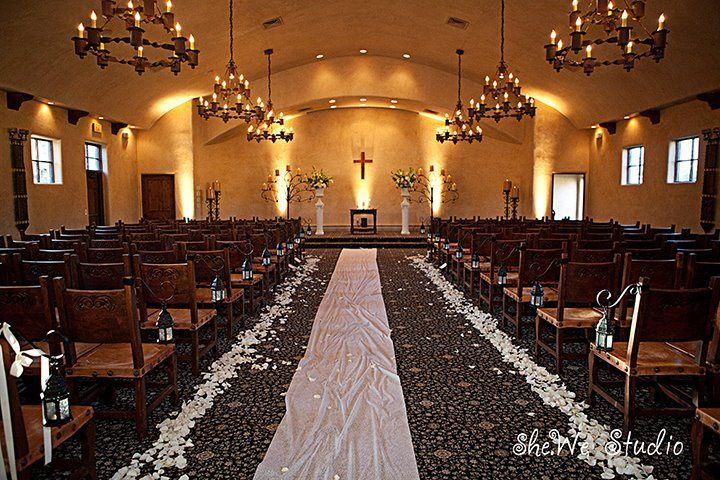 More of our lighting from a ceremony in the chapel at the Tubac Golf Resort.