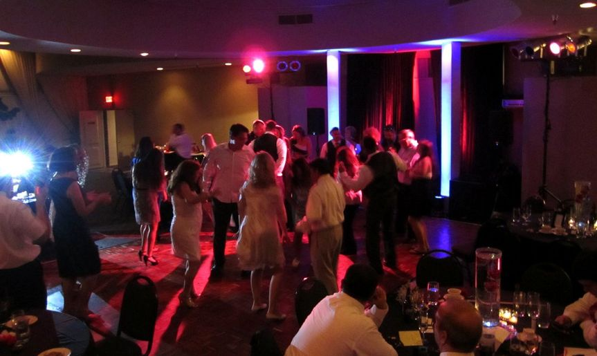 A shot of the dance floor from a wedding we performed at, from Skyline Country Club. No cheesy...