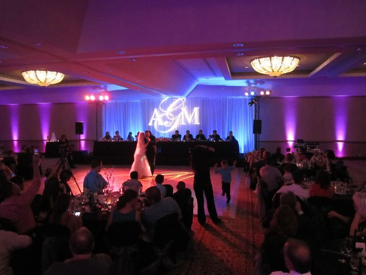 In addition to being the DJ/MC, we provided all the lighting, including the custom gobo, for this...