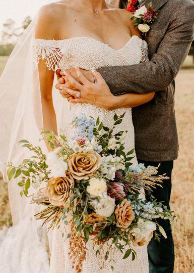 Textural Bridal Bouquets