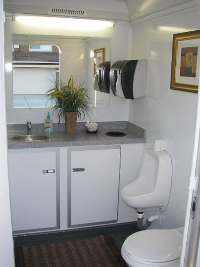 Interior of men's stall of standard trailer