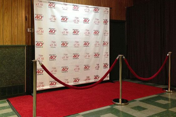 red carpet for photo booth