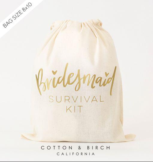 Bridesmaid Survival Kit Bag