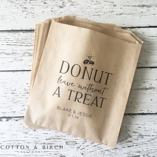 Personalized Donut Bag