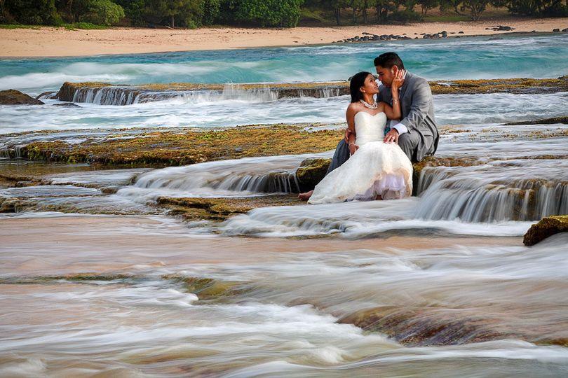 munoz trash dress wedding hawaii