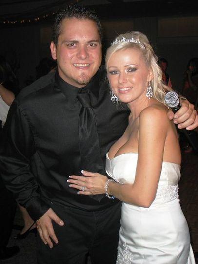 DJ with bride