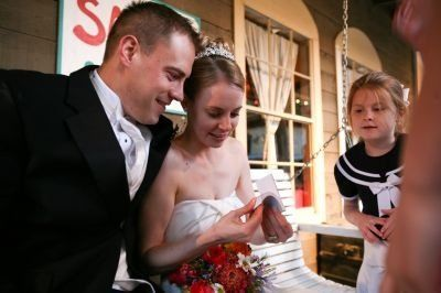 Flip books are fun at wedding receptions and flip books are the perfect wedding party favor!