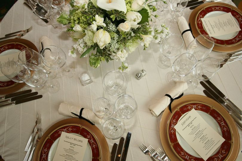 Classic wedding arrangements