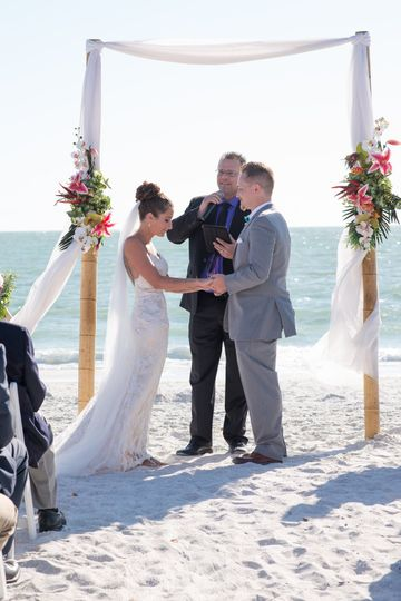 Ft. Myers beach ceremony