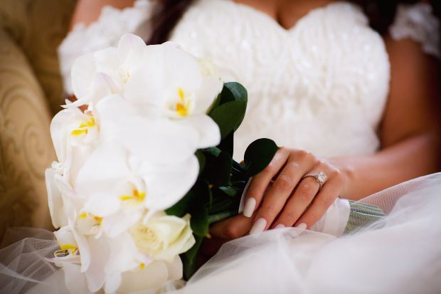 All White Orchid Bouquet