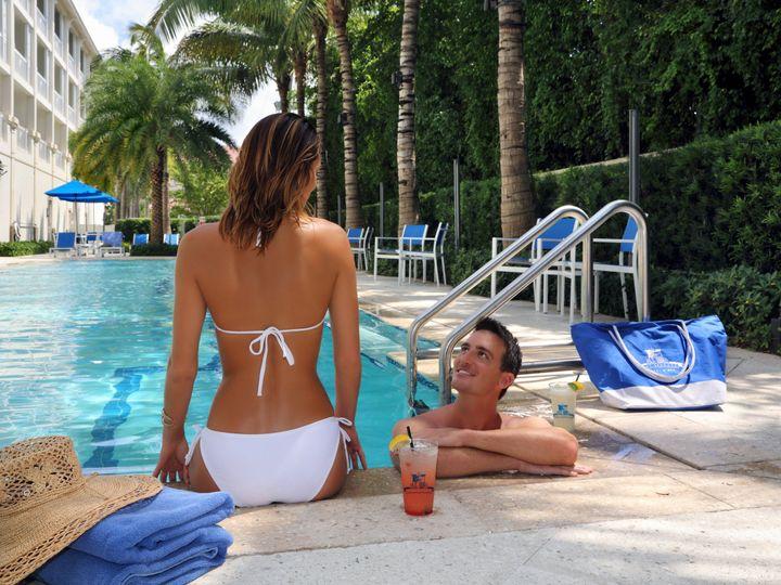 Tmx 1419878546661 Hotel Pool Couple Closeupdommiguelphoto5791 Delray Beach, Florida wedding venue