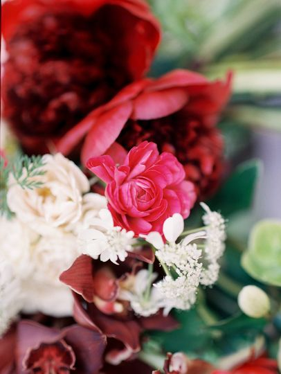 White and red arrangement